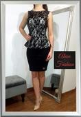 Elastická sukňa a čipkovaný top, 38