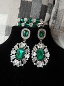 Smaragdovo-zelené náušnice,