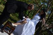 čipkované svadobné šaty 36-40, 38