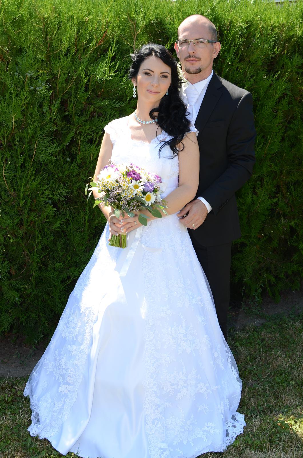 čipkované svadobné šaty 36-40 - Obrázok č. 1