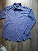 Košela pánska bielomodrá L, XL, Slim Fit, 44