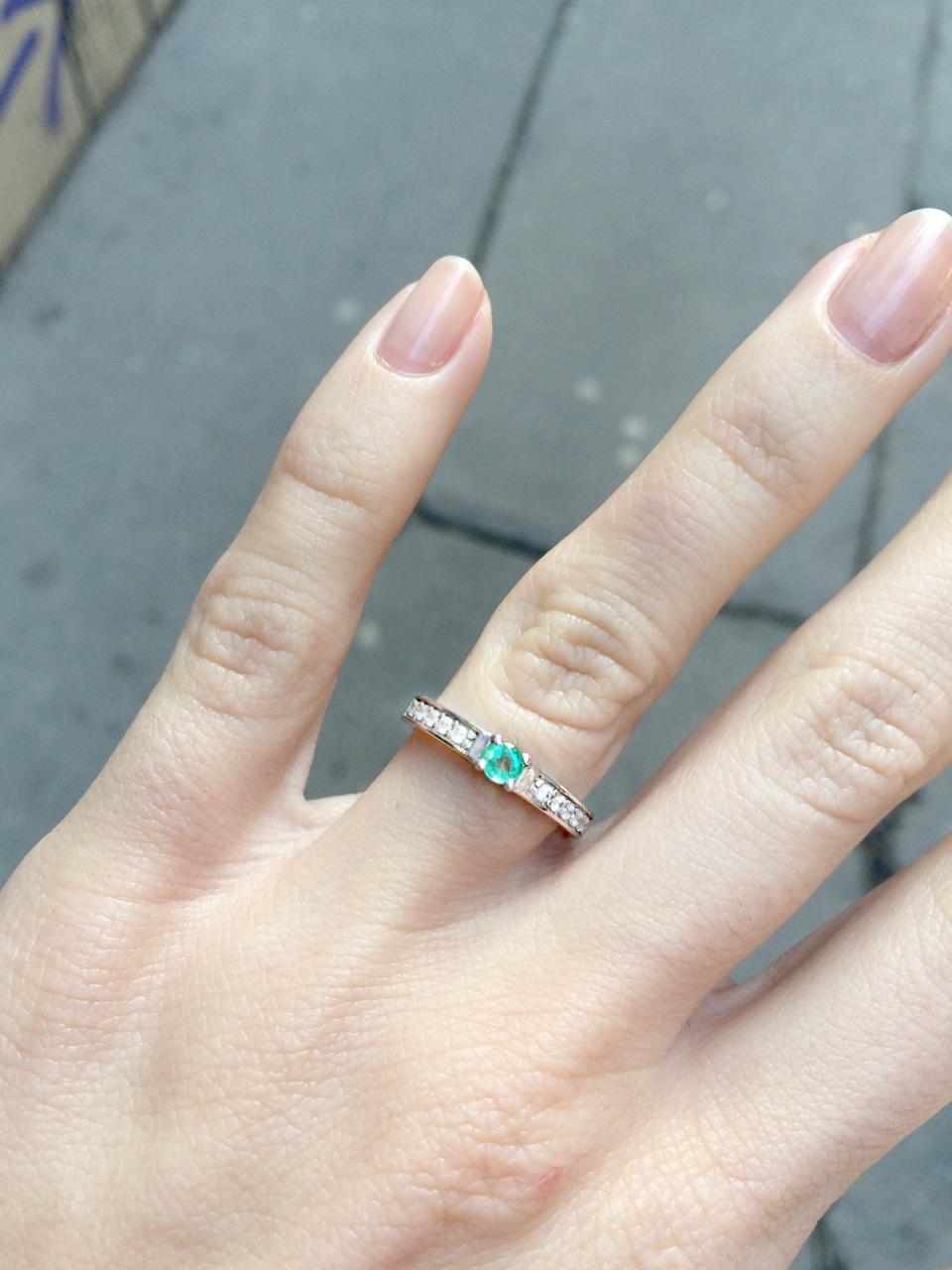 zásnubní se smaragdem a... - Obrázek č. 1