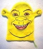 Handrička na umývanie, froté hráškovo zelená_Shrek,