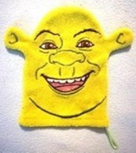 Handrička na umývanie, froté hráškovo zelená_Shrek - Obrázek č. 1
