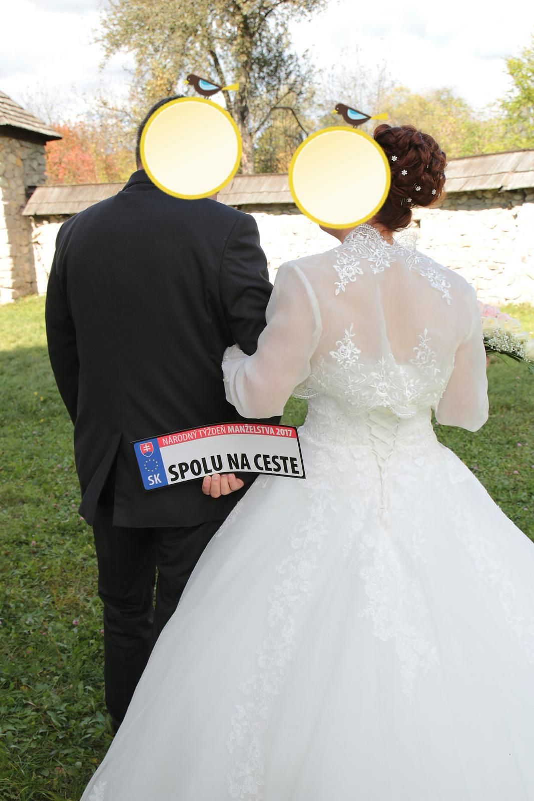 Svadobné šaty a 5 m závoj - Obrázok č. 2
