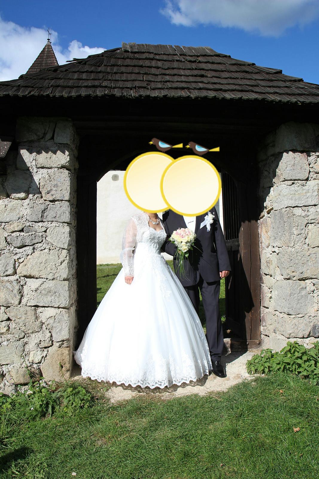 Svadobné šaty a 5 m závoj - Obrázok č. 3