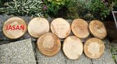 Dřevěné podnosy z kulatiny,