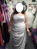 Svatební šaty vel.50 až 54, 50