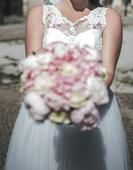 Nádherné snehovobiele svadobné šaty veľ. 38-42, 40