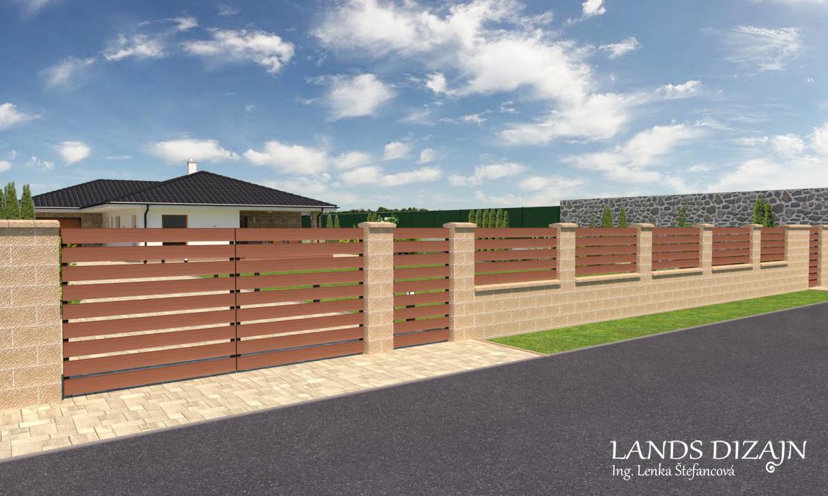 Návrh záhrady a fasády bungalovu - Obrázok č. 1
