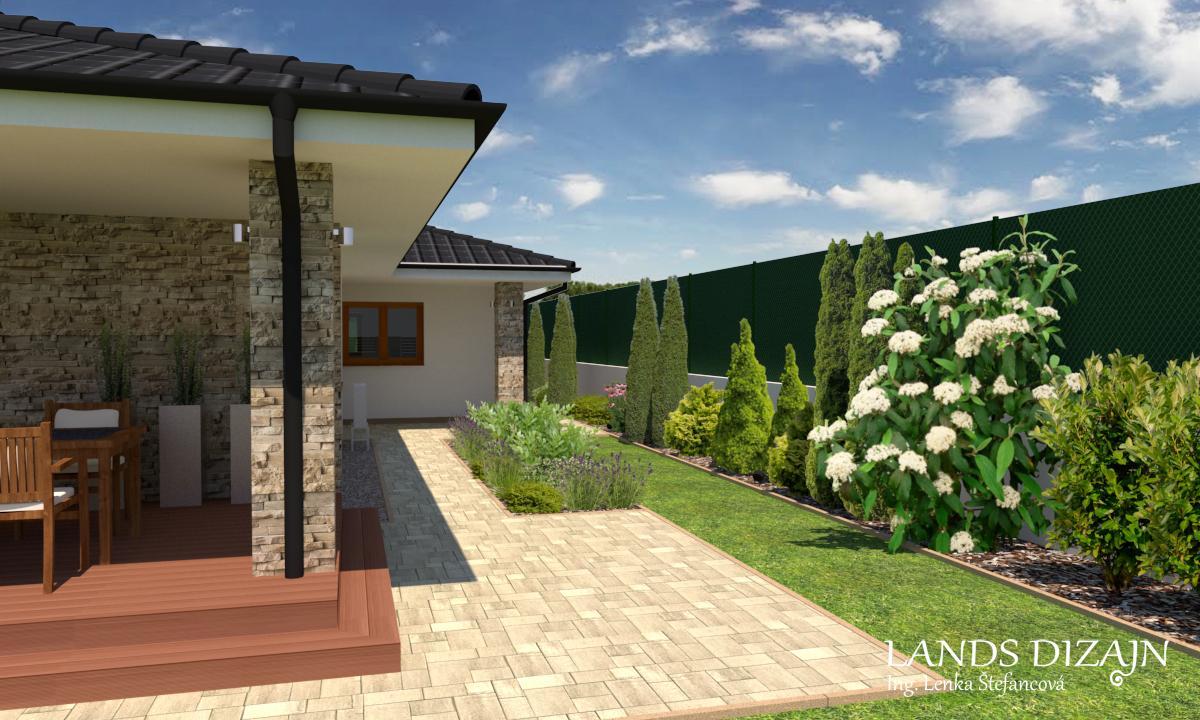 Návrh záhrady a fasády bungalovu - Obrázok č. 4