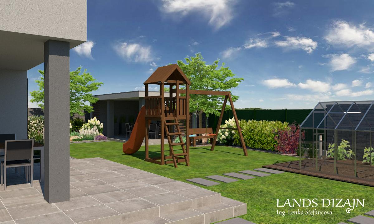 Návrh modernej záhrady. - Obrázok č. 2