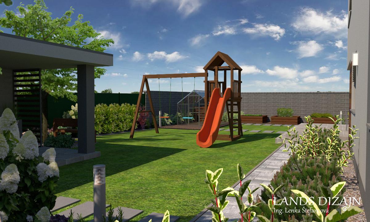 Návrh modernej záhrady. - Obrázok č. 4