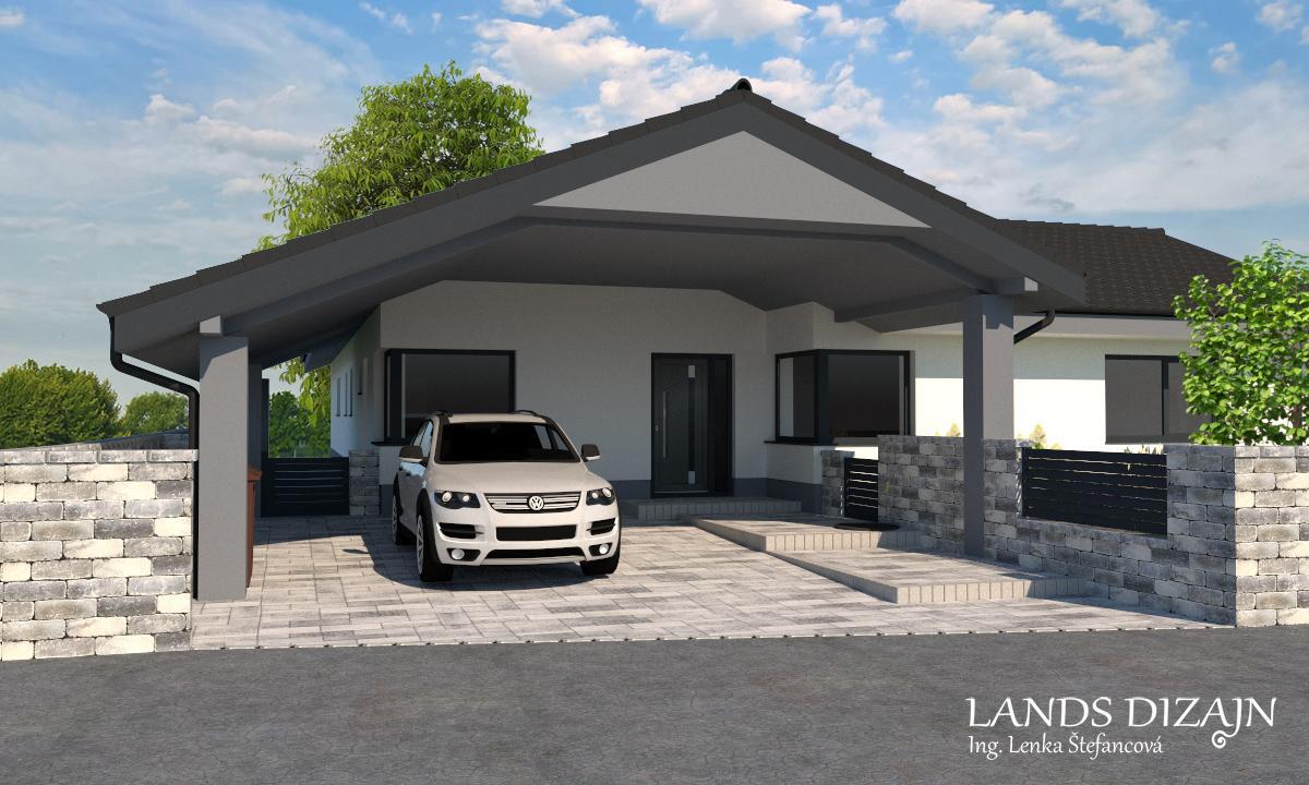 landsdizajn - Moderné riešenie vstupnej časti pozemku a oplotenia