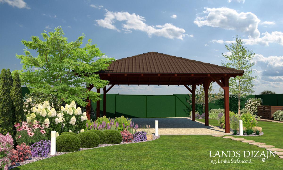 Návrh väčšej rodinnej záhrady na rovine - Obrázok č. 2
