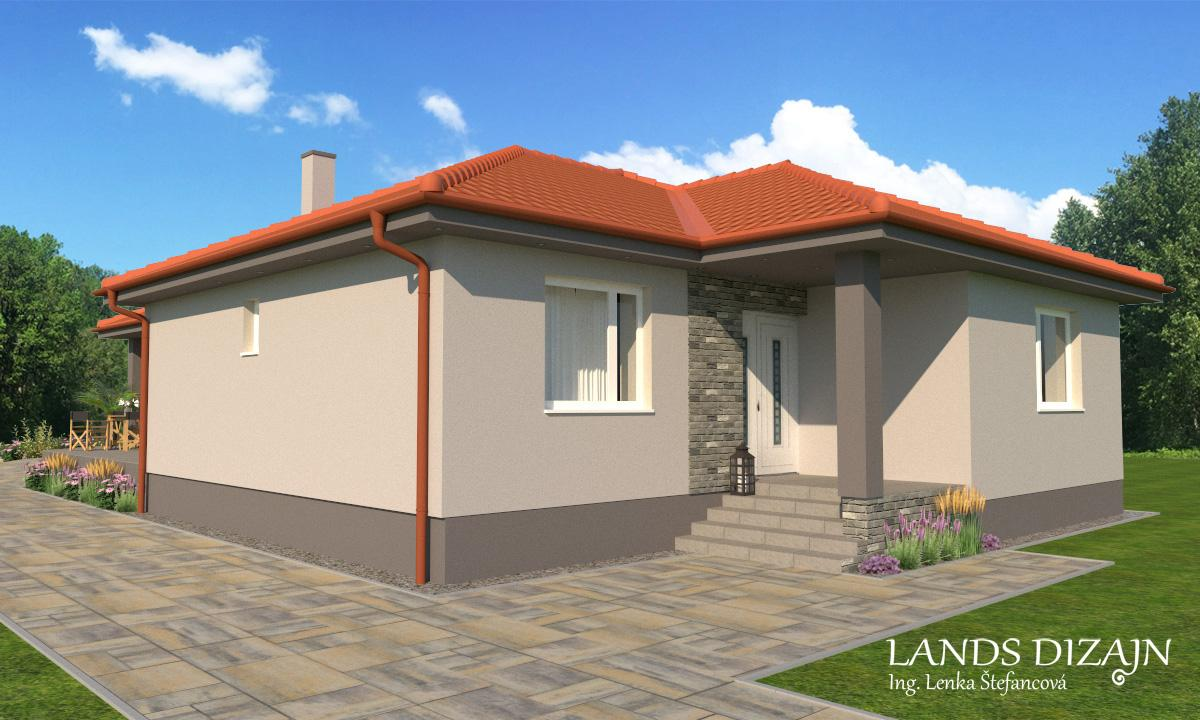 Návrh fasády rodinného domu v sivých odtieňoch - Obrázok č. 3