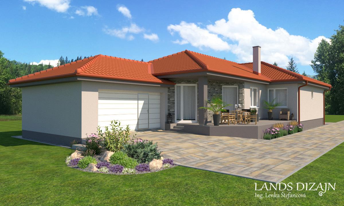 Návrh fasády rodinného domu v sivých odtieňoch - Obrázok č. 1