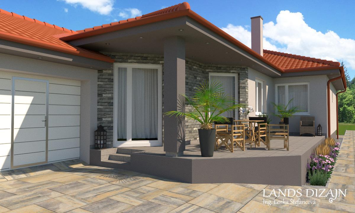 Návrh fasády rodinného domu v sivých odtieňoch - Obrázok č. 2