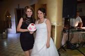 Svadobné šaty+kruhova spodnica a závoj, 46