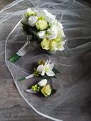 Svatební kytice a korsáž ,
