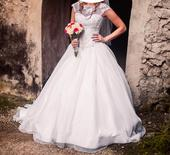 Svadobné šaty so Swarovski kryštálmi veľ. 36-38, 36
