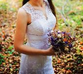 Svadobné šaty pre nevestu vysokú 168 cm a menej, 38