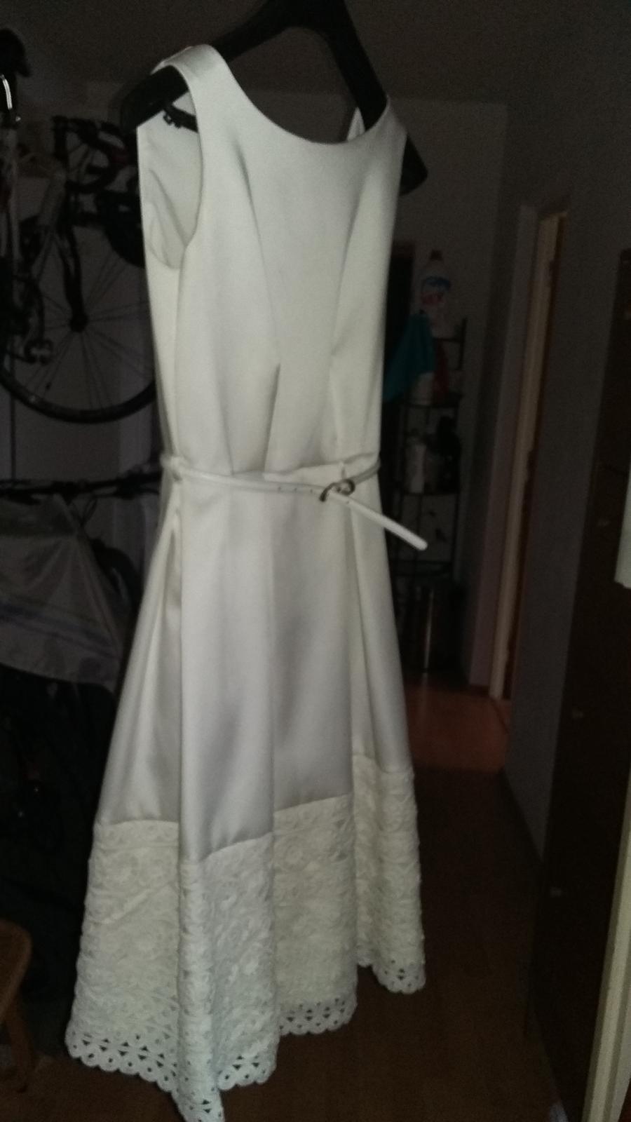 Biele saténové šaty zn. Closet - Obrázok č. 3