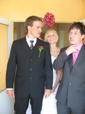 S braskou a kamaradem Johnym