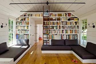 spousta spacího prostoru pro domácí i návštěvy, nahoře ještě ta pidi ložnice