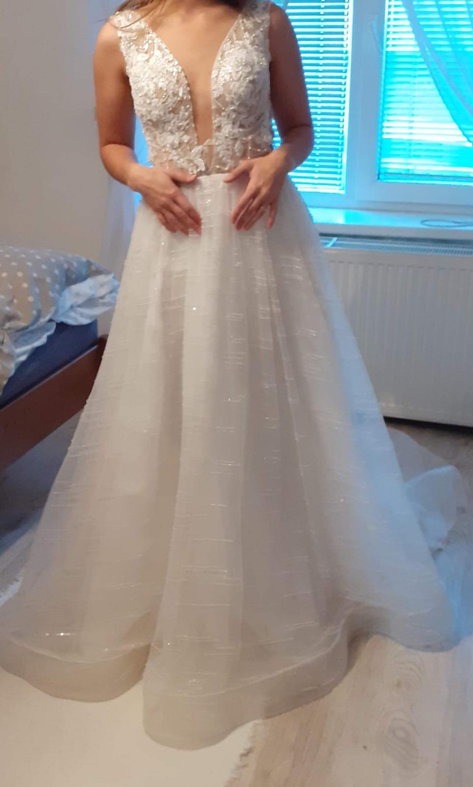 Predám svadobné šaty - Obrázok č. 3