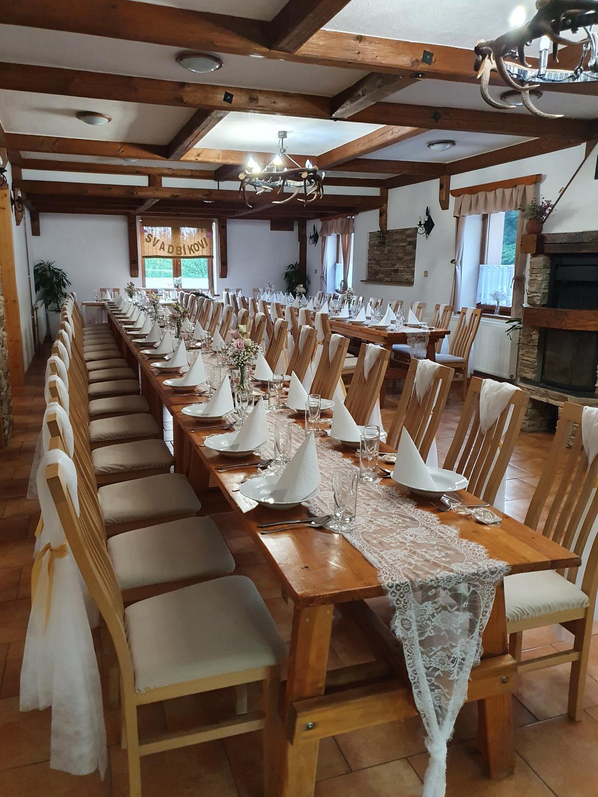 svatební krajka a dekorace na židle - Obrázek č. 1