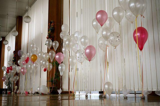 Tužba po dokonalosti - balony v tejto podobe vydrzali asi len hodinu potom z nich bola jedna velka kopa
