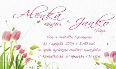 nase svadobne oznamenie - take letne:)