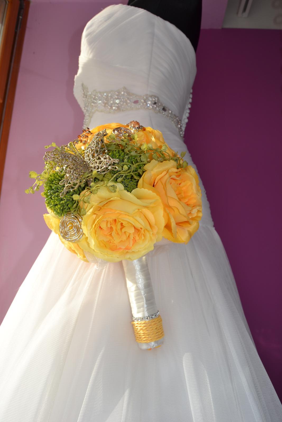 Látkové umělé svatební kytice-info - Obrázek č. 2