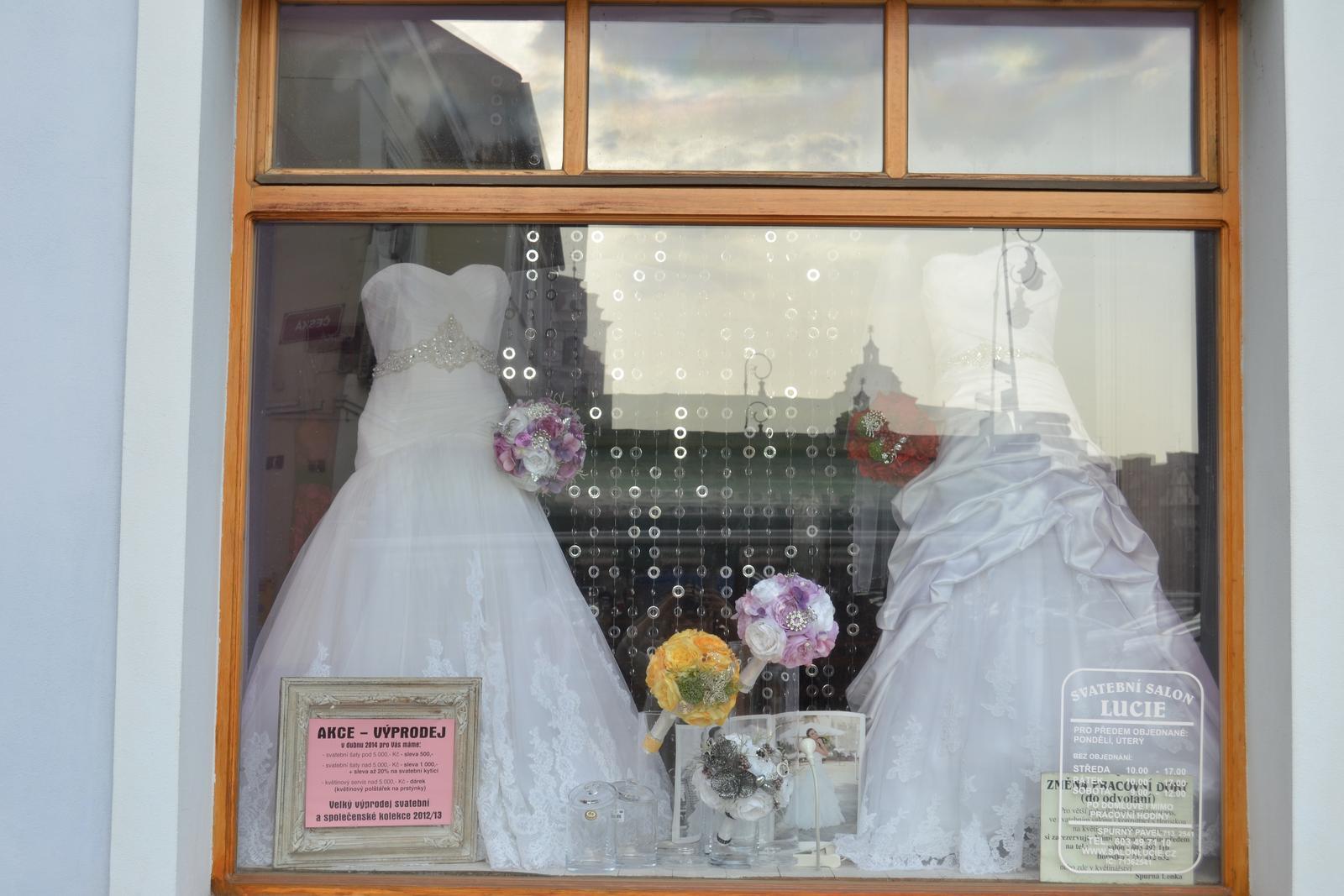 Látkové umělé svatební kytice-info - Obrázek č. 16