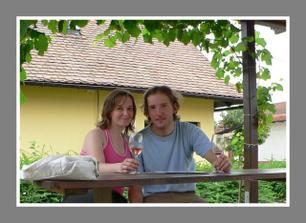 Tak to jsme my dva na dovolené ve Valticích.