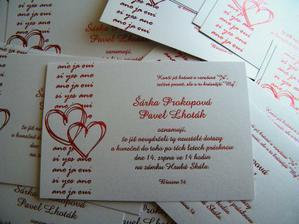 Naše svatební oznámení:-)