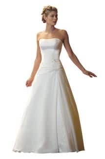 Moj svadobny bazar - Nadherne saty zn. Eden bridals, biele, vzadu na zips vel 36, na vysku 160-165
