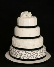 torta priblizne takato, ale namiesto ciernej bordova  a nie 4 poschodia, ale len tri