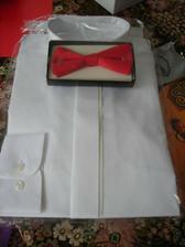 košile a motýlek pro ženicha