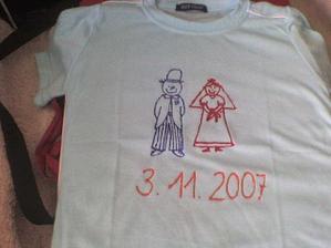 Vyrobila jsem nám svatební trika!!!
