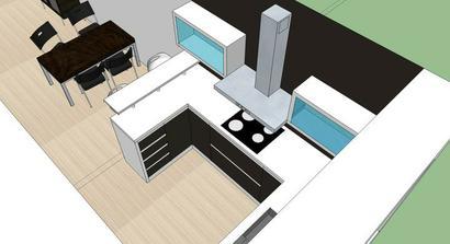 navrh kuchyne s barovym pultom