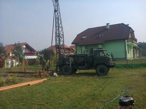 Vŕtanie studne  september 2012