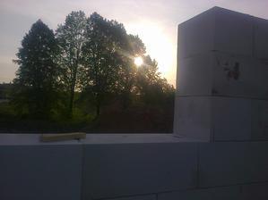 zapad slnka z buducej kuchyne :)