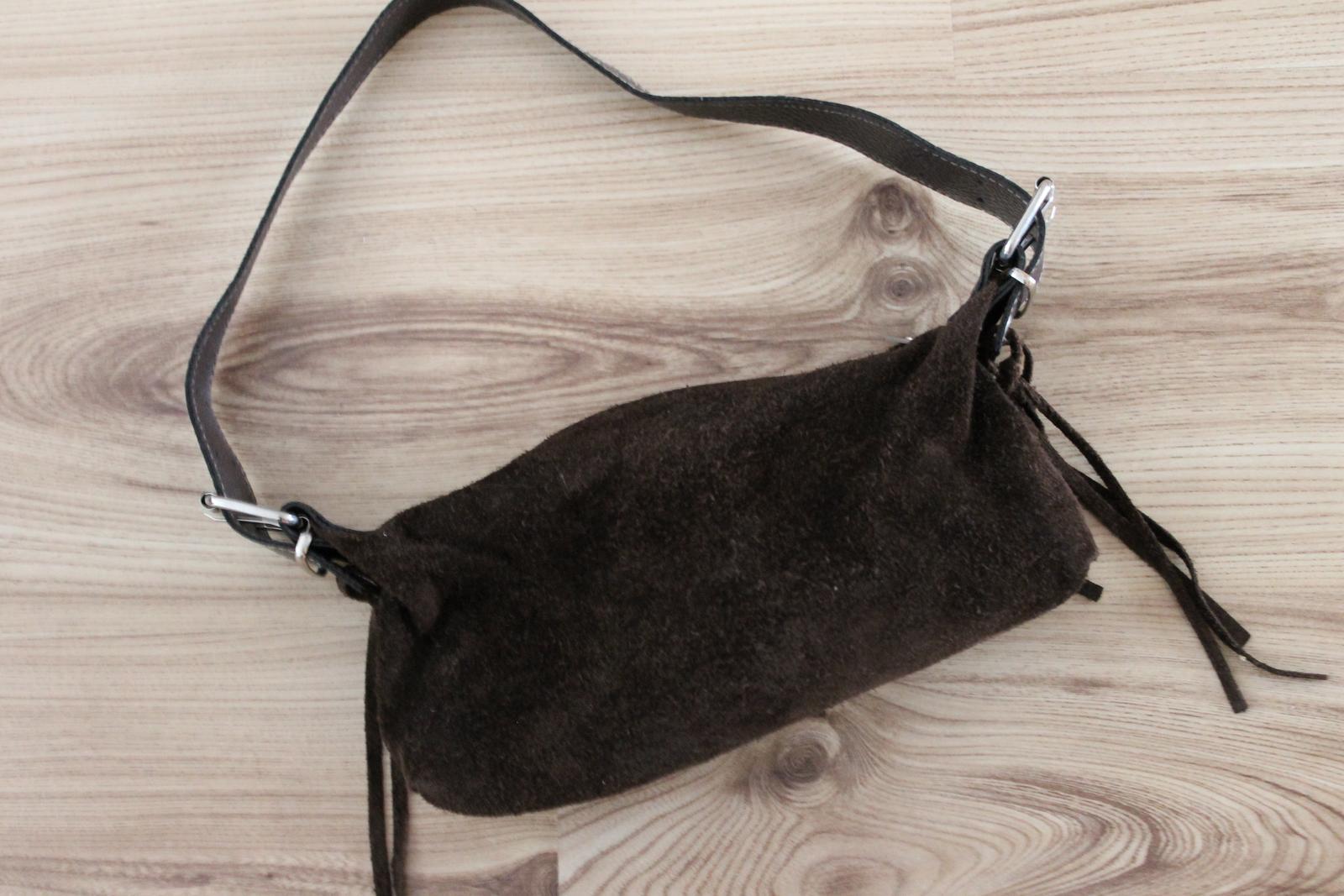 Spolocenska kabelka z brúsenej kože - Obrázok č. 1