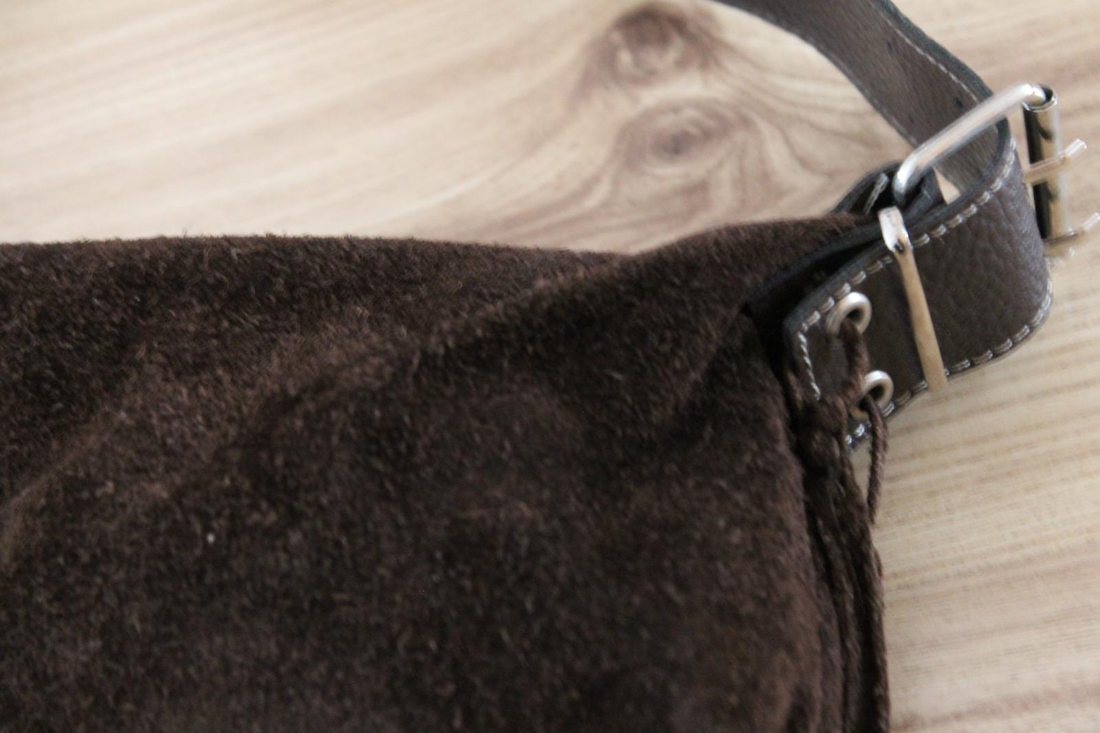Spolocenska kabelka z brúsenej kože - Obrázok č. 3