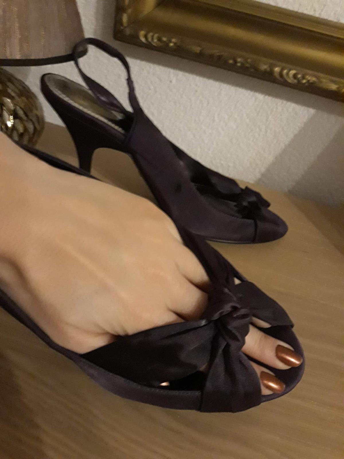 Saténové lodičky/sandále - Obrázok č. 2
