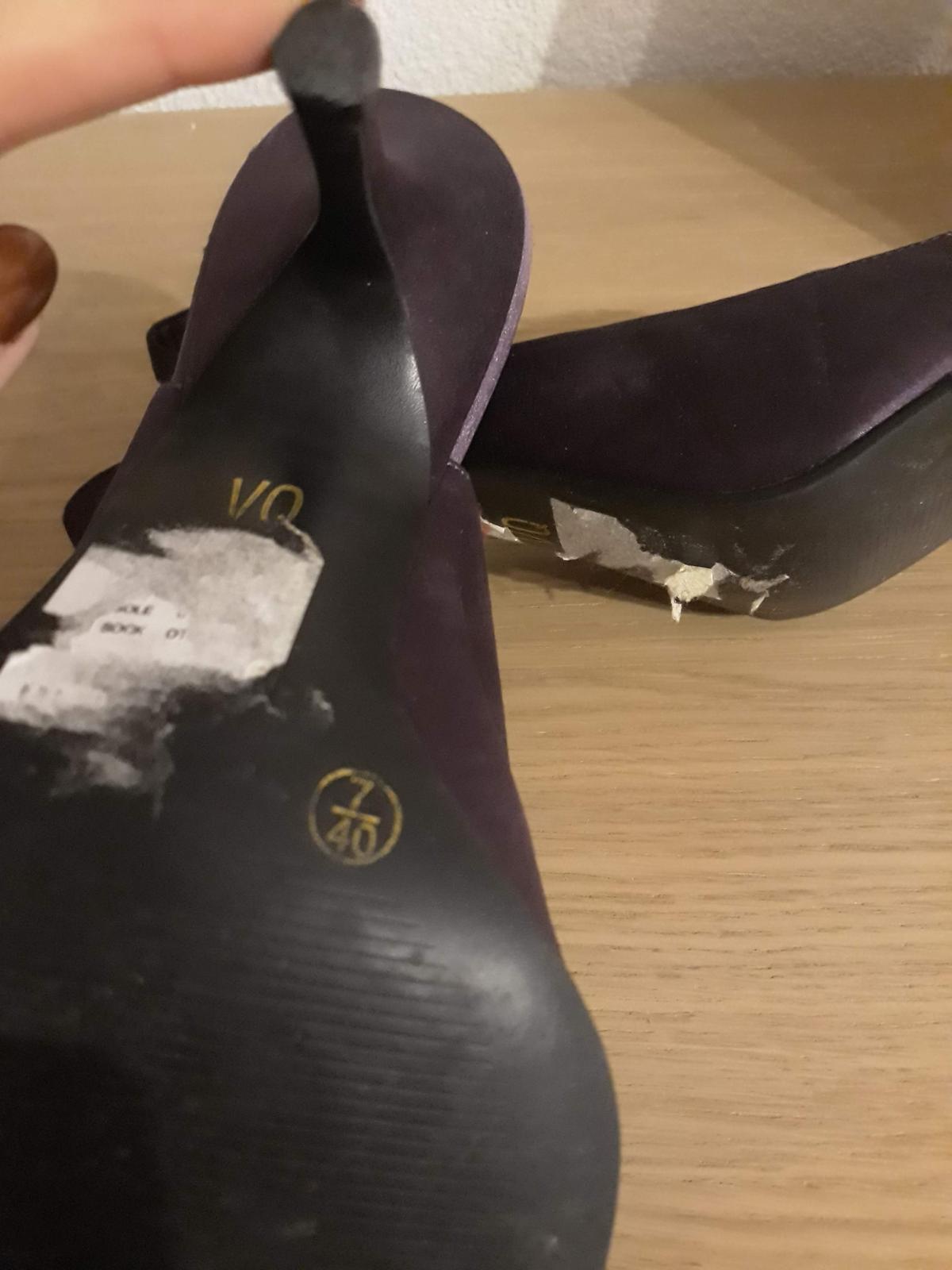 Saténové lodičky/sandále - Obrázok č. 4