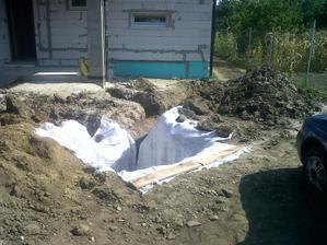 Trativod na dažďovú vodu na dvore - 7 m3