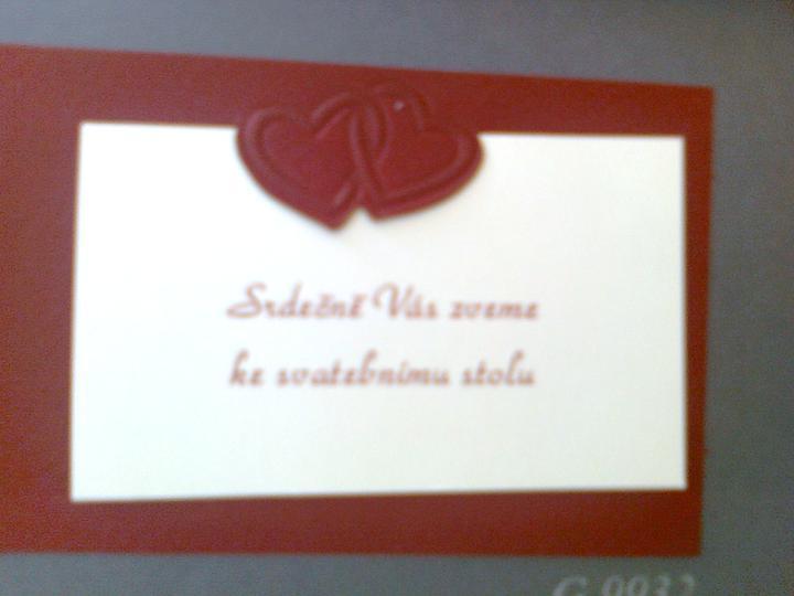 Svatební přípravy , 3.9. 2011 - zámek Hořovice - Pozvánka na hostinu
